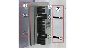 Montagesatz (Schraube lang) zu Rampenpuffer